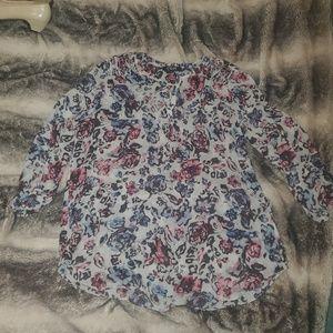 Flowy floral blouse xL